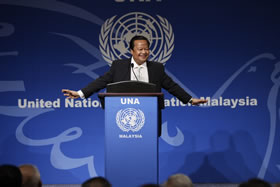 Maharaji at the United Nations Association of Malaysia