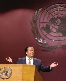Prem Rawat Maharaji at United Nations Conference Center, Bangkok - closeup