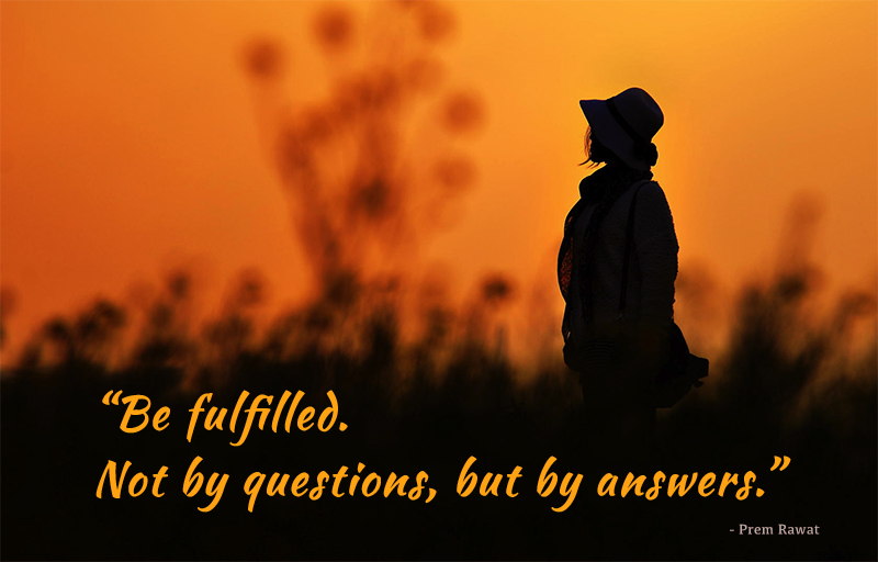 silhouette, lady, hat,Prem Rawat,quote