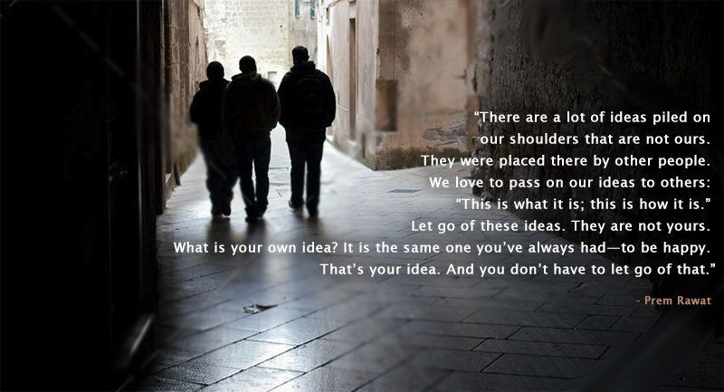 silhouette, alley,Prem Rawat,quote