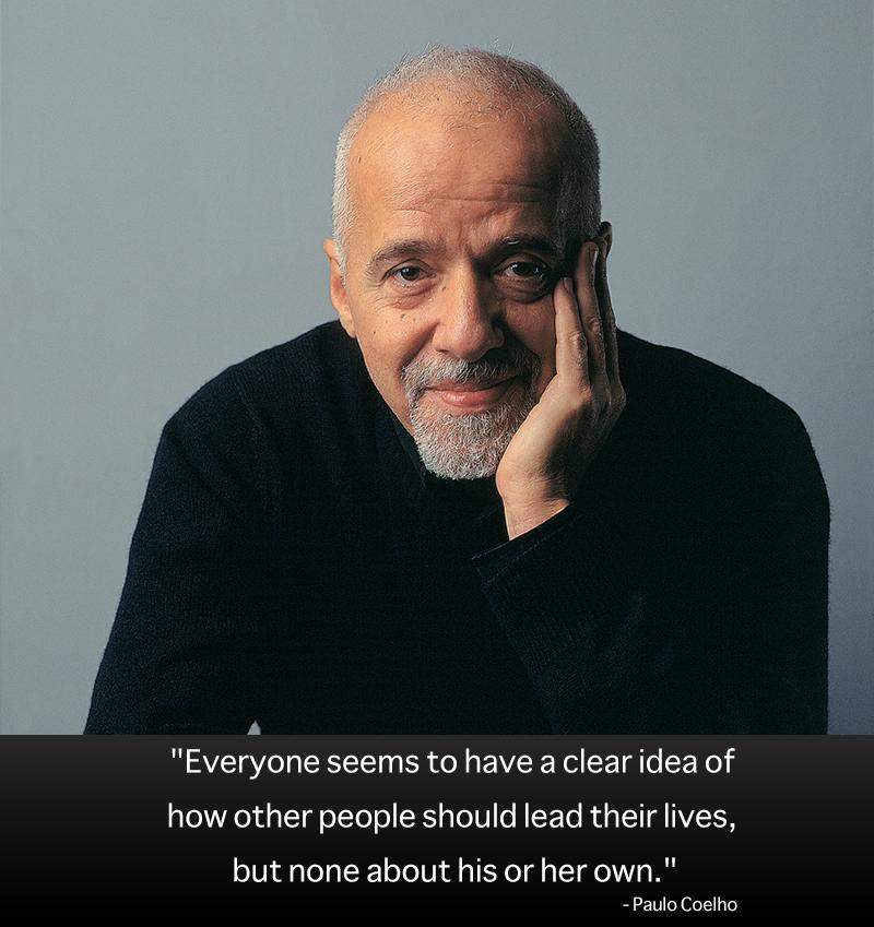 portrait,Paulo Coelho,quote