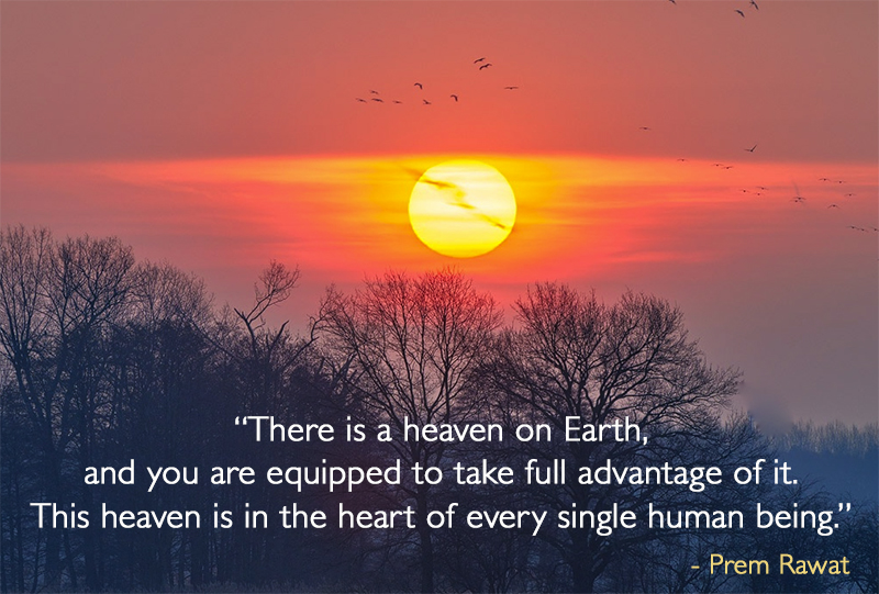 sunset,Prem Rawat,quote