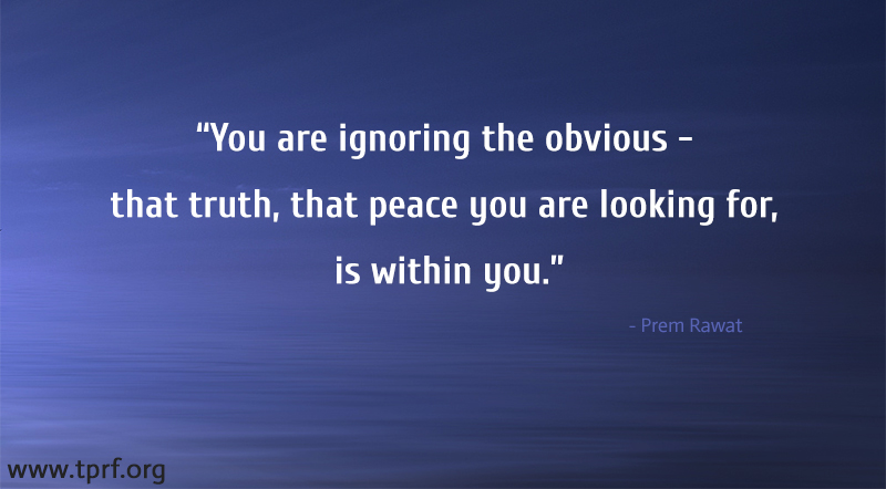 You Are Ignoring The Obvious - That Truth,…