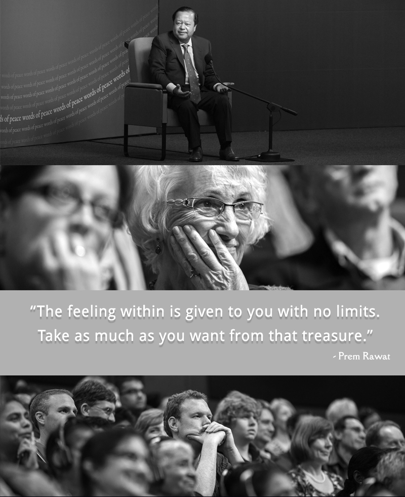 b&w event,Prem Rawat,quote