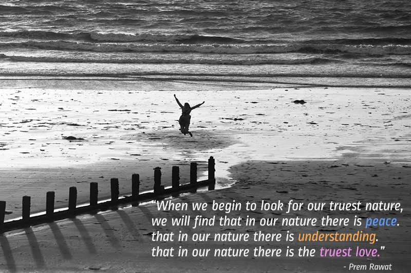 jumping girl,Prem Rawat,quote