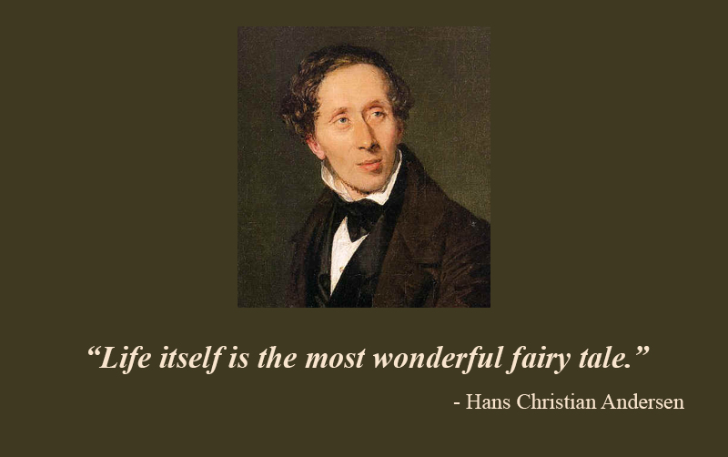 portrait,Hans Christian Andersen,quote