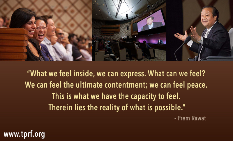 event,laughing audience,Prem Rawat,quote