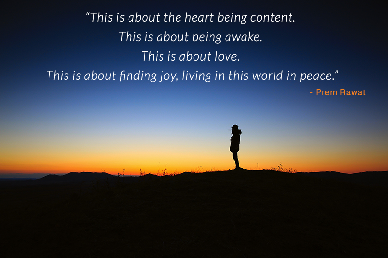 tourish, silhouette,Prem Rawat,quote