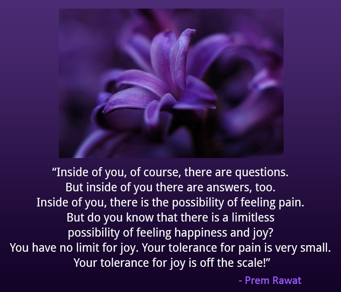 tulip,Prem Rawat,quote