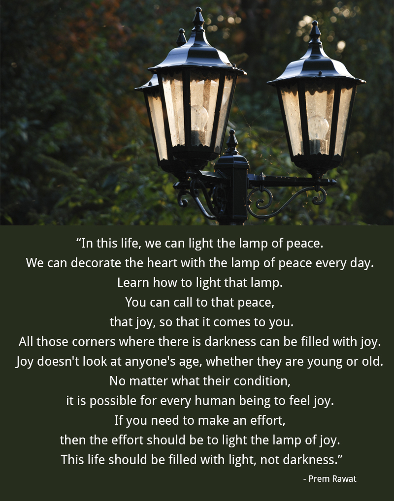 lamp,Prem Rawat,quote
