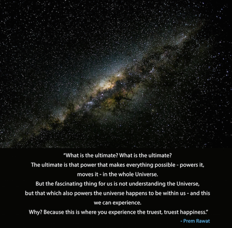 milky way, galaxy,Prem Rawat,quote