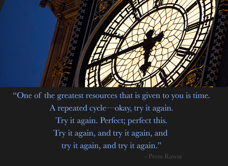 clock,Prem Rawat,quote
