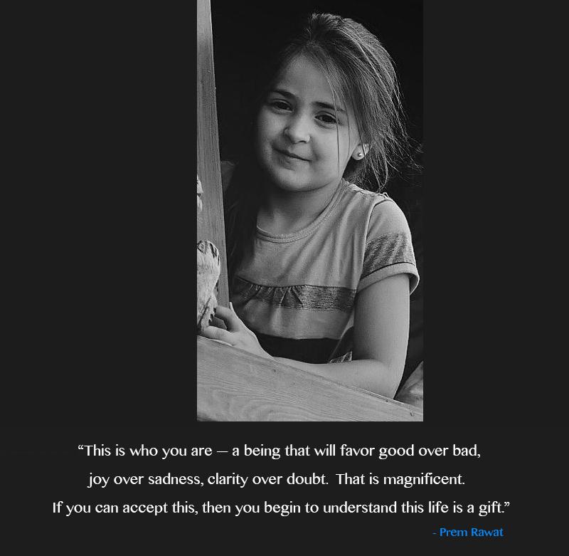 girl, child,Prem Rawat,quote
