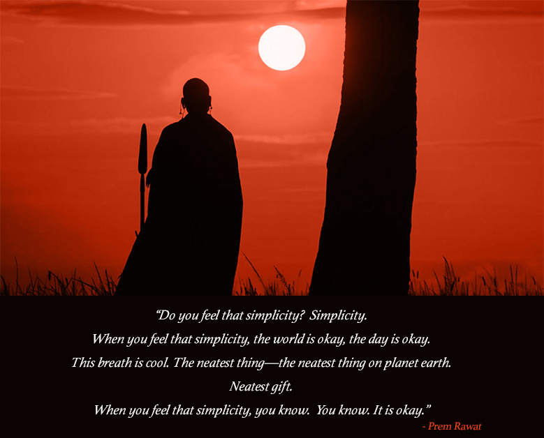 sunset, native, warrior,Prem Rawat,quote