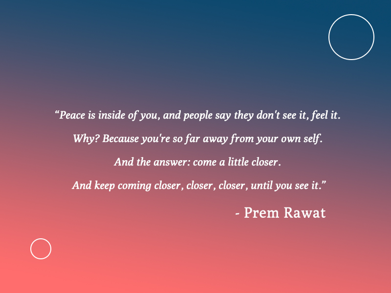 circle,Prem Rawat,quote
