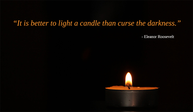 diya, lamp,Eleanor Roosevelt,quote