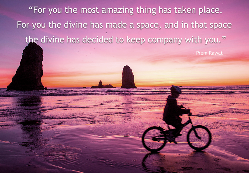 beach, cycle,Prem Rawat,quote