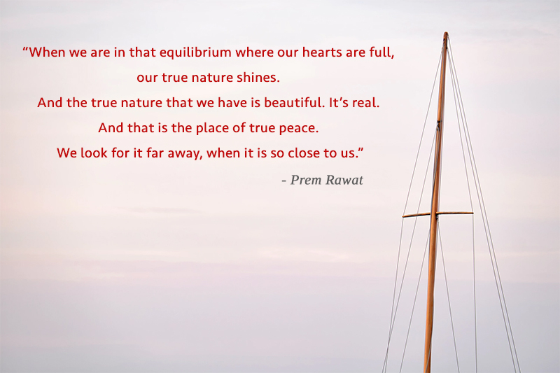 boat, sail,Prem Rawat,quote