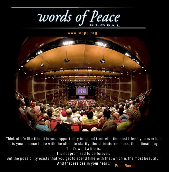 words of peace,Prem Rawat,quote