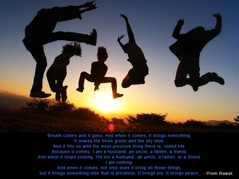 silhouette,people,jumping,Prem Rawat,quote
