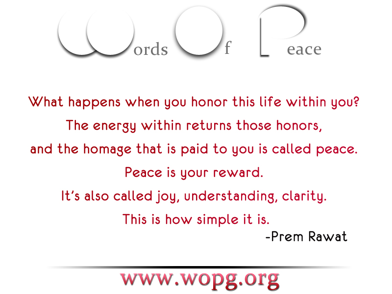 words of peace,abstract,Prem Rawat,quote