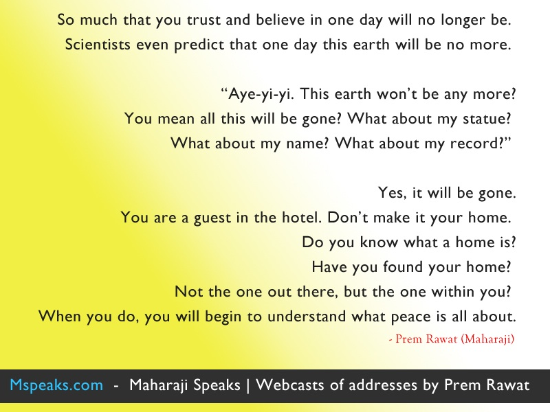gradience,Prem Rawat,quote