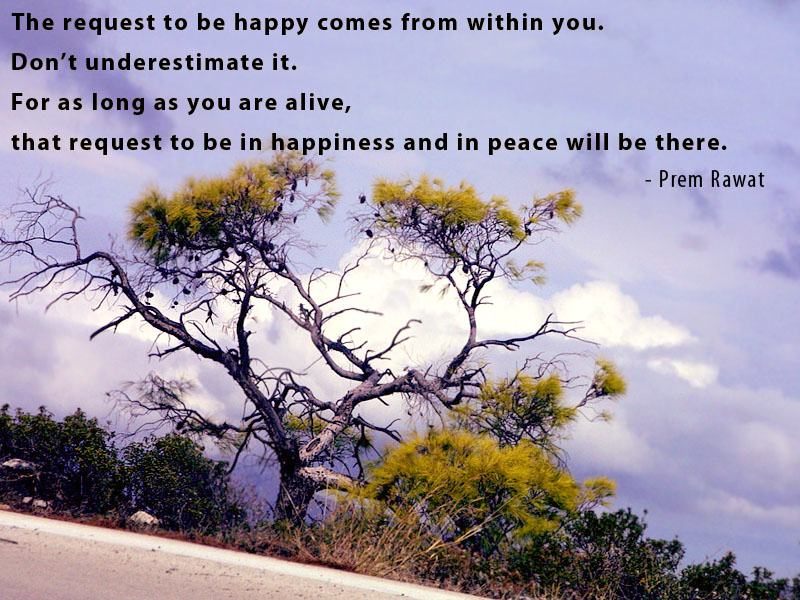 tree dried,Prem Rawat,quote
