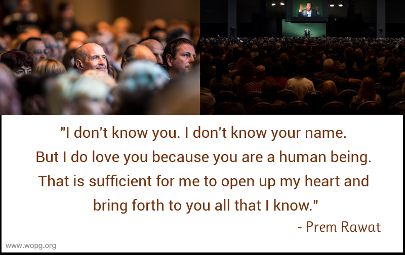 event,auditorium,listening,Prem Rawat,quote