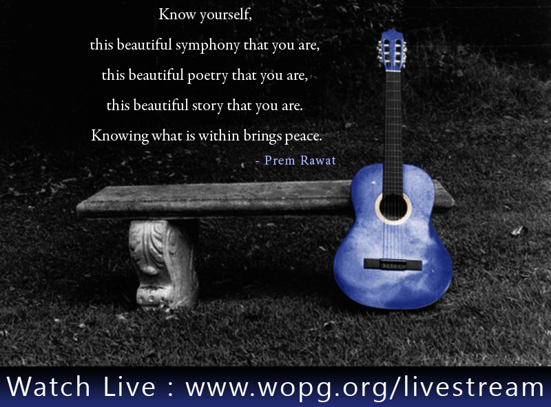 guitar,purple,Prem Rawat,quote