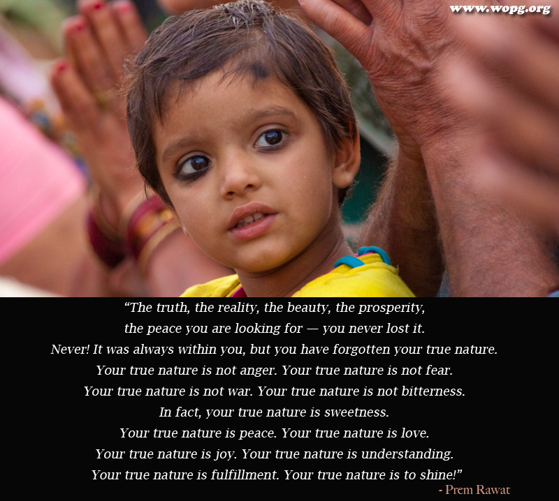 kid,child,kajal,Prem Rawat,quote