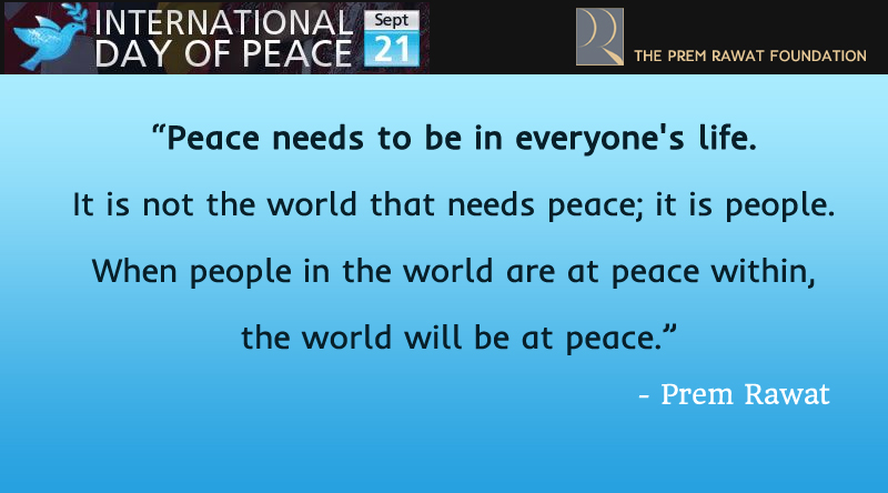 international day of peace,Prem Rawat,quote