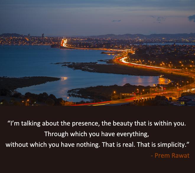 night,river,city,Prem Rawat,quote