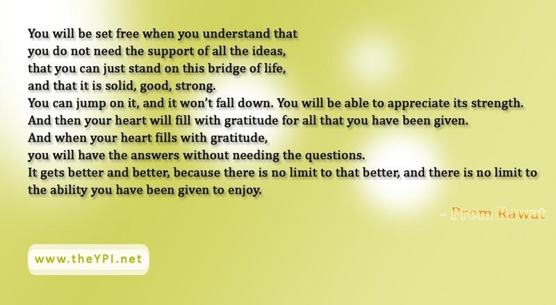 suntan,Prem Rawat,quote