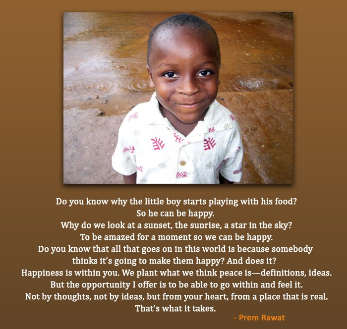 black kid,african,Prem Rawat,quote