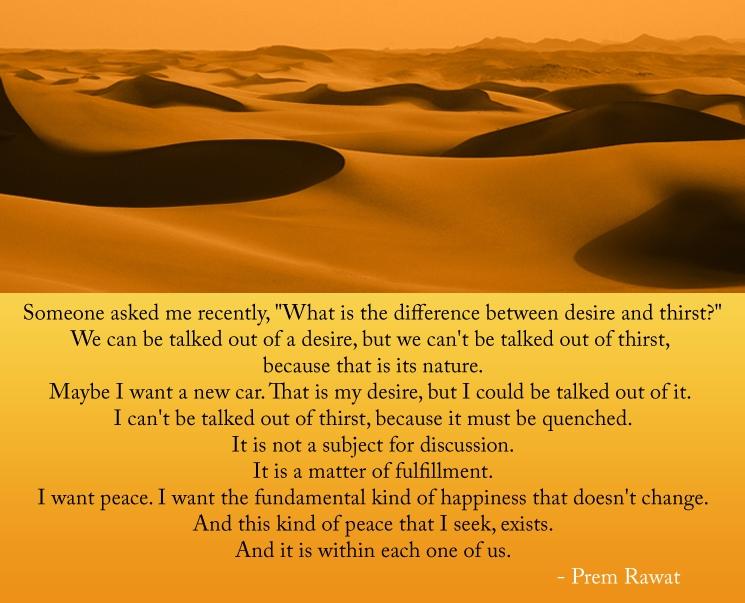 desert,sand,Prem Rawat,quote