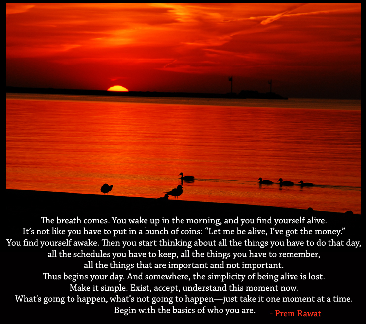 sunset,golden,river,Prem Rawat,quote