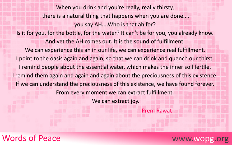 checkered,Prem Rawat,quote
