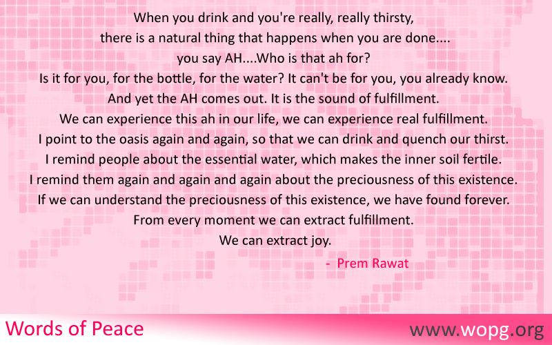 checkered,Prem Rawat,quote