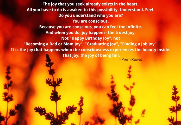 yellow plants,Prem Rawat,quote