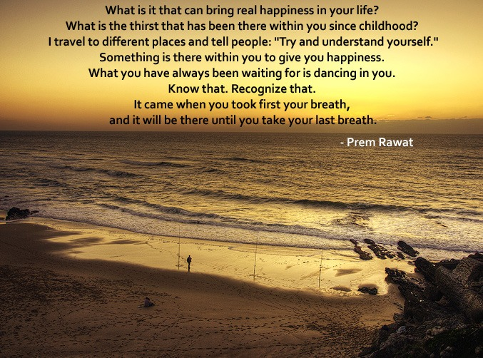 sunset,beach,Prem Rawat,quote