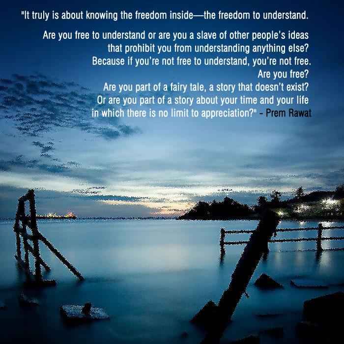 serene lake,evening,Prem Rawat,quote