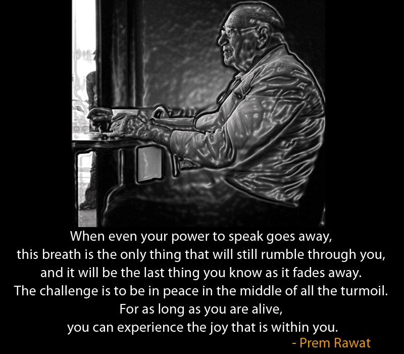 sketch,coal,old man,Prem Rawat,quote