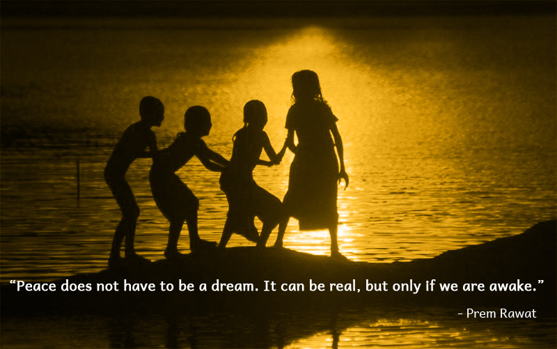 children,beach,sunset,Prem Rawat,quote