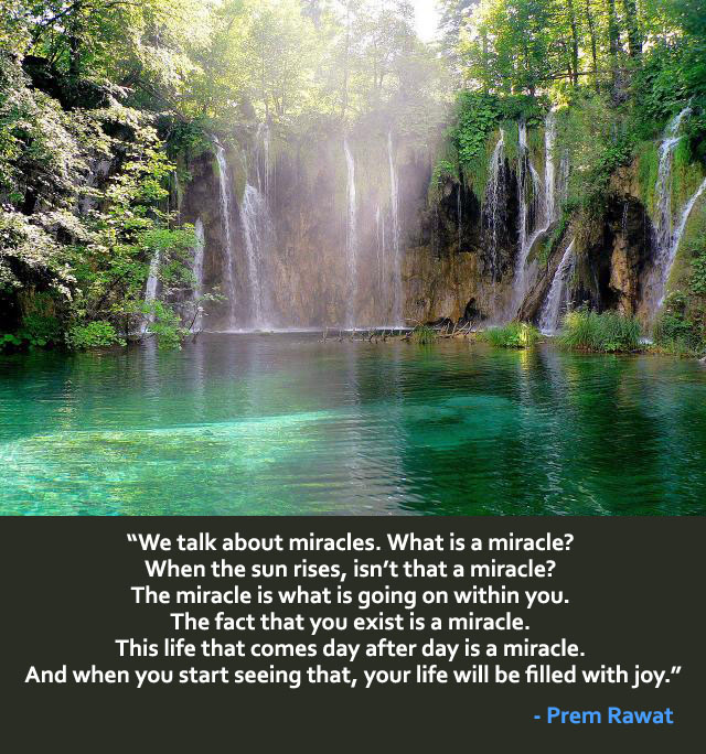 waterfall,Prem Rawat,quote