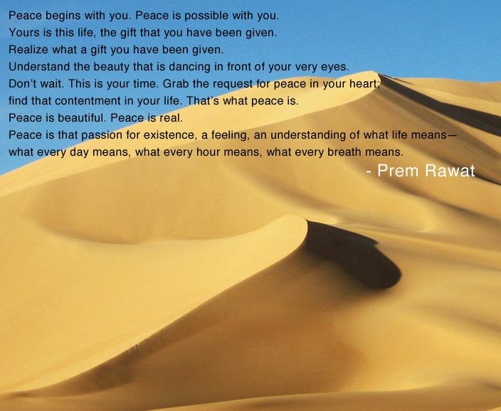 sand,sandune,Prem Rawat,quote
