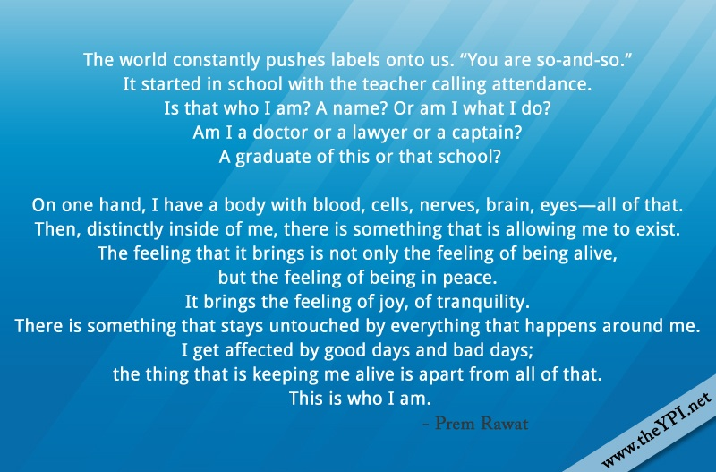 blue abstract,Prem Rawat,quote