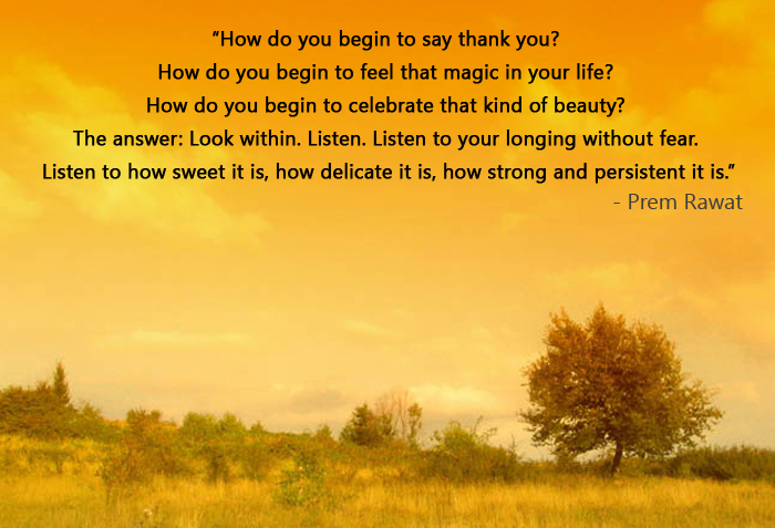 evening,orange,Prem Rawat,quote