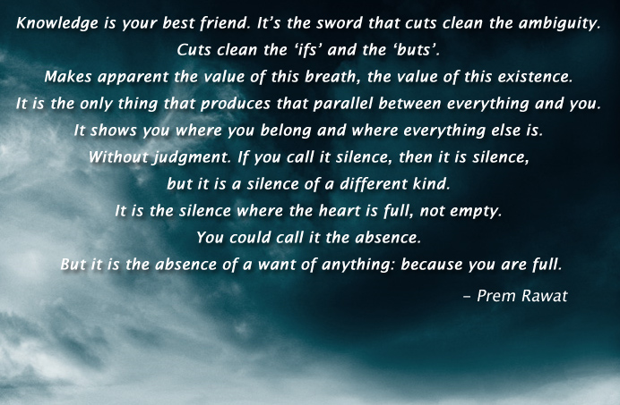 dark clouds,Prem Rawat,quote
