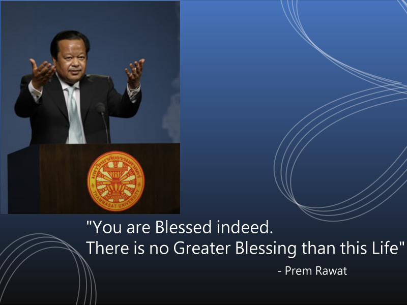 thammasat university,event,Prem Rawat,quote