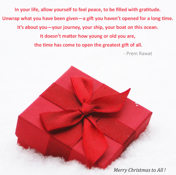 gift box,christmas,Prem Rawat,quote